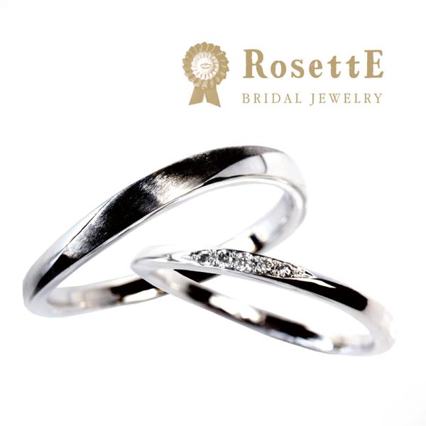 シンプル結婚指輪ロゼット京都1