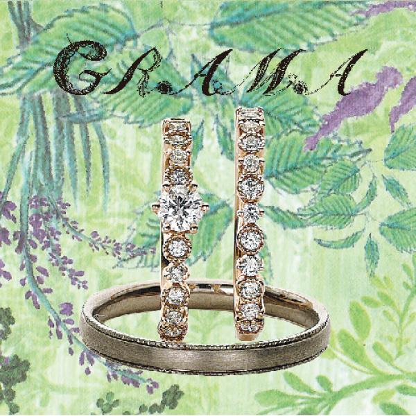 京都で人気なアンティークブランドグラマの婚約指輪でチェストツリー