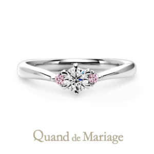 Qマリの婚約指輪 コンビリング アンジュ 正規取扱店京都