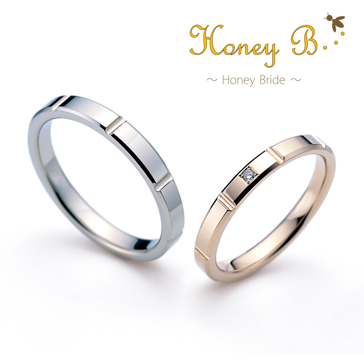 京都で10万円で揃う結婚指輪のハニーブライドでミント
