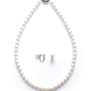 花珠真珠ネックレス2点セット 7.5-8mm京都