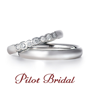 鍛造リングパイロットブライダル指輪プレジャー結婚指輪マリッジリング京都