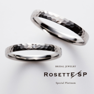 Pt999鍛造結婚指輪ロゼット3