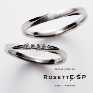 Pt999鍛造結婚指輪ロゼット7