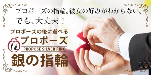 奈良で人気のプロポーズプランの銀の指輪