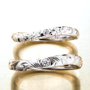 京都MAILE結婚指輪カーブリング3