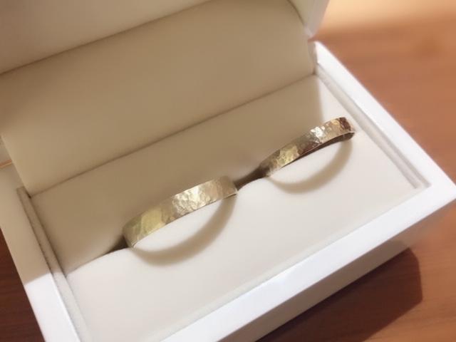 garden京都の手作り結婚指輪の体験談1