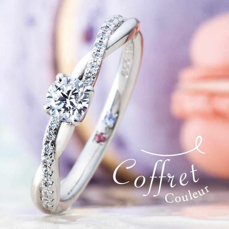 京都でおすすめアンティークな婚約指輪でコフレクルールのコフレプレジール