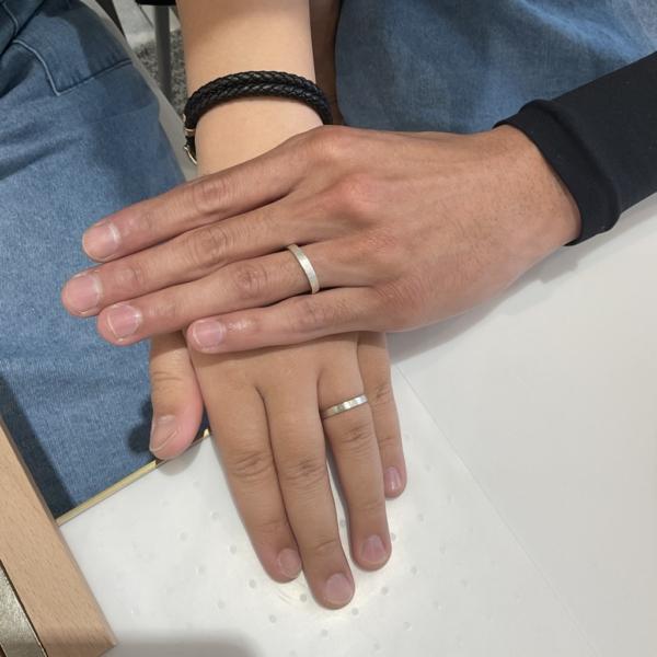 京都府・宇治市|ペアリング(指輪)を作成いただきました