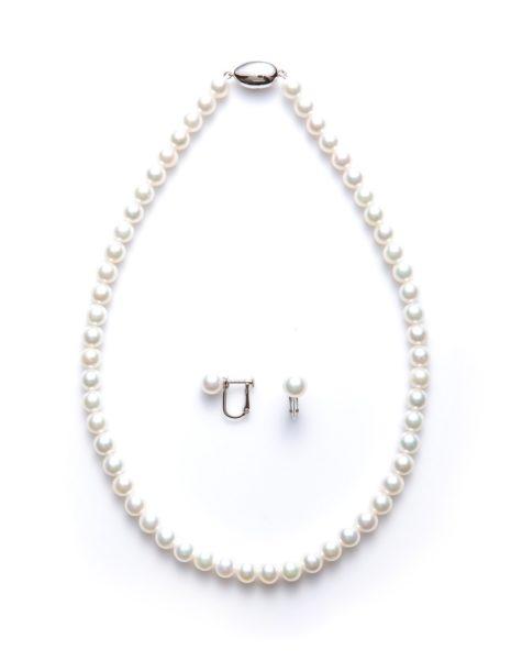 京都高品質真珠ネックレス