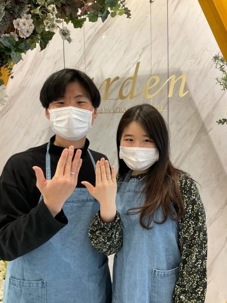 京都市・上京区 手作りペアリング(指輪)を作成いただきました