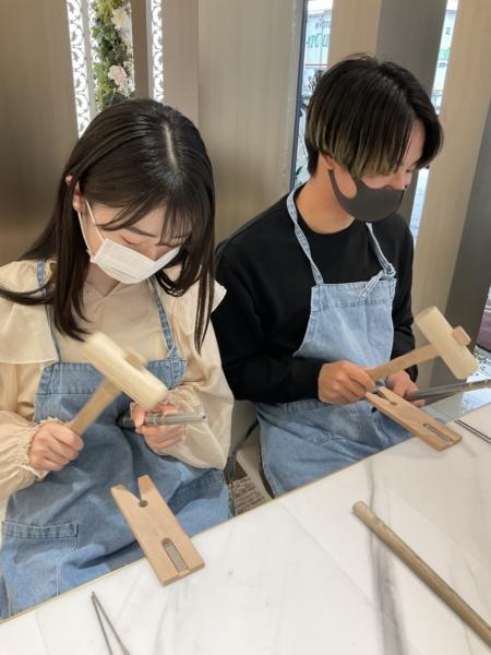 京都市南区・奈良県天理市 手作りペアリング(指輪)作成いただきました