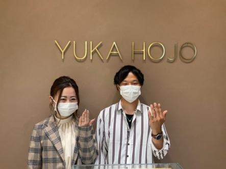 京都・福知山市|ユカホウジョウの婚約指輪・結婚指輪をご成約いただきました