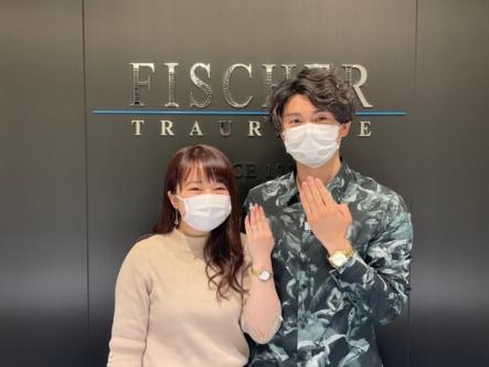 奈良県|フィッシャーの結婚指輪をご成約いただきました
