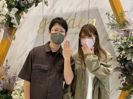 奈良県奈良市|手作り結婚指輪を作成いただきました