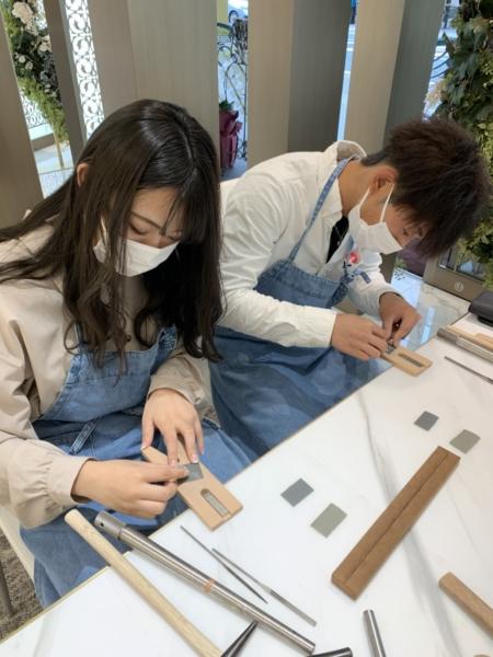滋賀県彦根市・長浜市 手作りペアリング(指輪)作成いただきました
