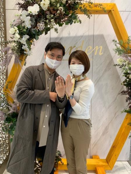 名古屋市 フィッシャーの結婚指輪をご成約いただきました