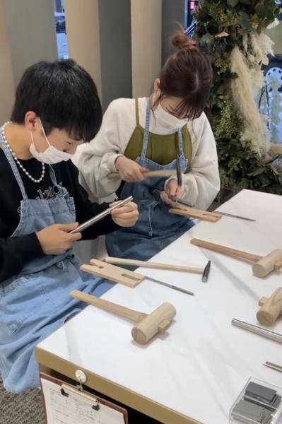兵庫県宝塚市・西宮市|手作りペアリング(指輪)作成いただきました