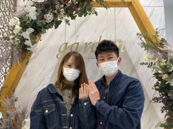 滋賀県 ディズニー・シンデレラの結婚指輪をご成約いただきました