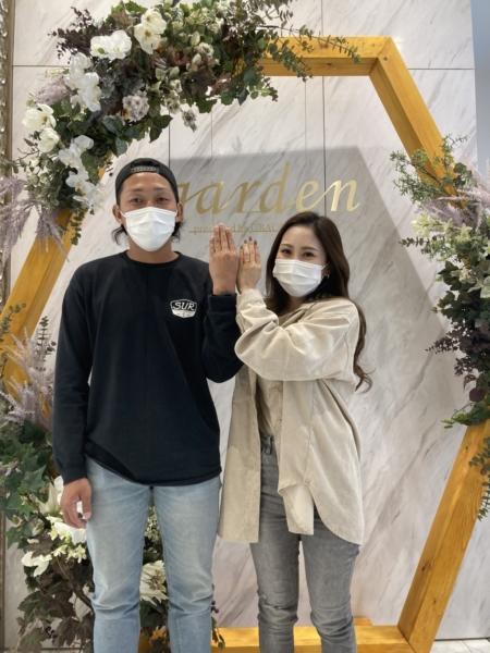 滋賀県甲賀市|フィッシャーの結婚指輪をご成約いただきました
