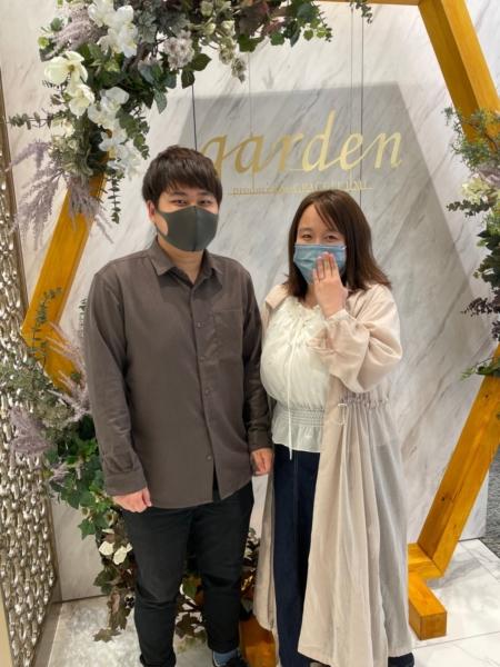 滋賀県草津市 ロゼットの婚約指輪をご成約いただきました