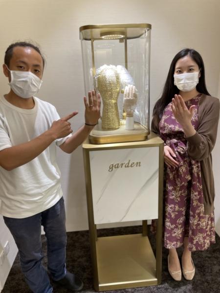 京都 チタン素材ティタニオの結婚指輪をご成約いただきました