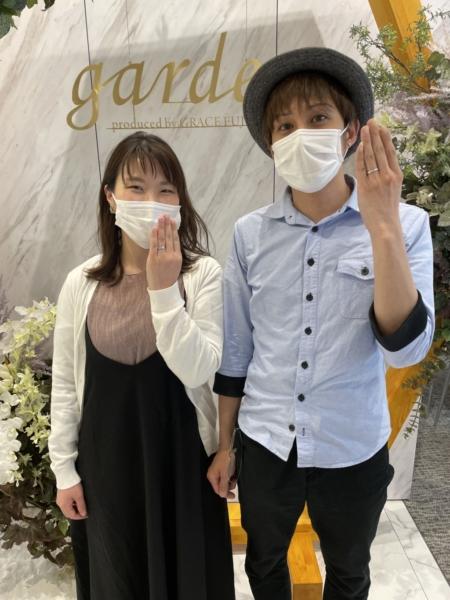 滋賀県大津市 ロゼットの婚約指輪・マリアージュエントの結婚指輪をご成約いただきました