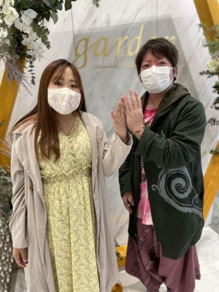 滋賀県・大津市|ディズニー美女と野獣の結婚指輪をご成約いただきました