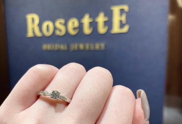 ロゼット婚約指輪デザイン