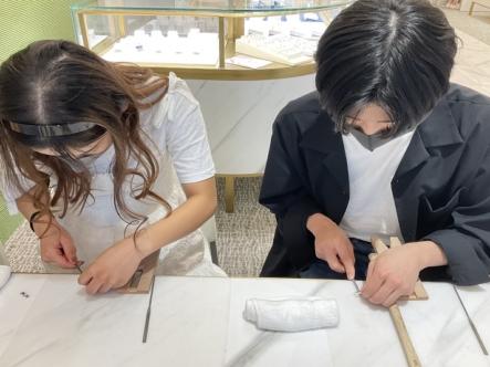兵庫県宝塚市・大阪府東大阪市|手作りペアリングご作成いただきました