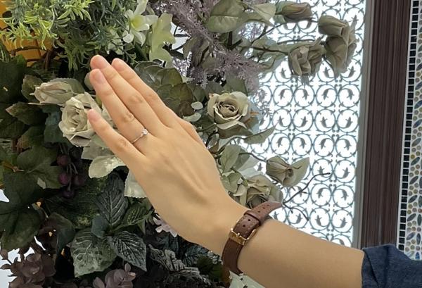 奈良県奈良市・京都市西京区 リトルガーデンの婚約指輪をご成約いただきました