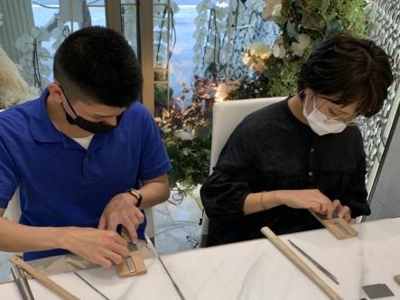 兵庫県神戸市・滋賀県高島市|手作りペアリング(指輪)作成していただきました