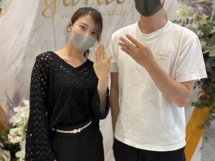 京都市・西京区|フィッシャーの結婚指輪をご成約いただきました