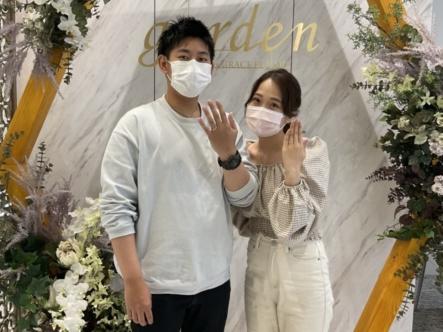 京都市南区・伏見区|スウィートブルーダイヤモンドの結婚指輪をご成約いただきました