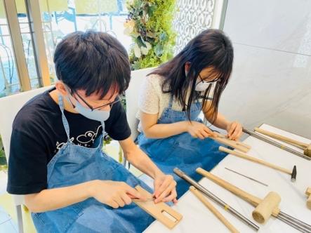 京都市伏見区・左京区|手作りペアリング(指輪)を作成していただきました