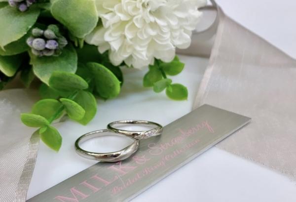 京都ピンクダイヤ結婚指輪