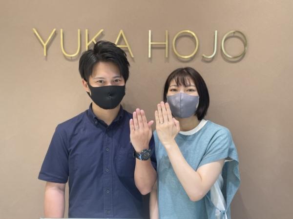 京都相楽郡・大阪東淀川区|オシャレブランドでユカホウジョウの結婚指輪をご成約いただきました