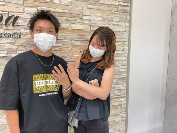 滋賀県彦根市|セミオーダーメイドでハワイアンジュエリーブランドのマイレの結婚指輪をご成約いただきました