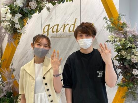 京都・宇治市 ハンドメイドで思い出にもなる手作り結婚指輪を作成頂きました