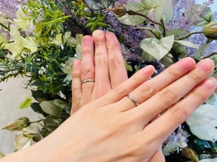 滋賀県大津市・栗東市|フィッシャーの結婚指輪をご成約いただきました