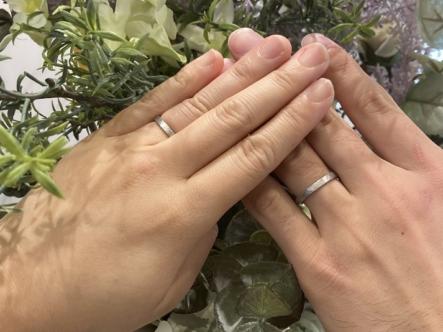 大阪府枚方市・東淀川区|手作り結婚指輪をご成約いただきました
