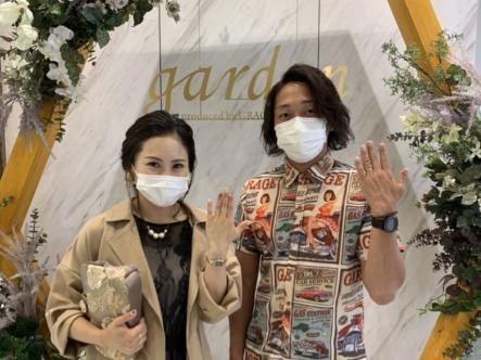 滋賀県・甲賀市|鍛造製法 フィッシャーの結婚指輪をご成約いただきました