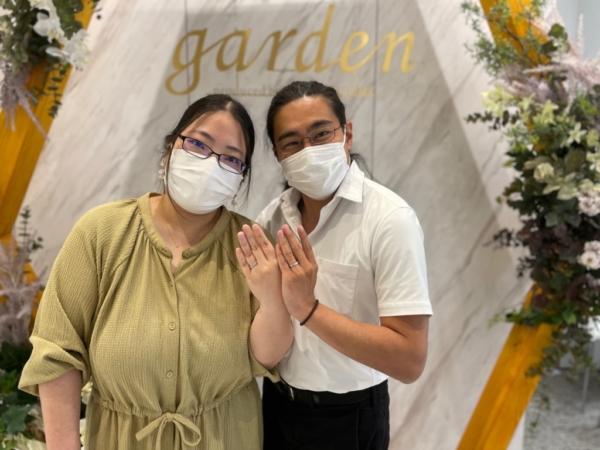 京都市|ドイツの鍛造ブランドフィッシャーの結婚指輪をご成約いただきました