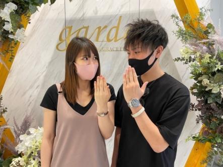 滋賀県・大津市|高度な技術をいかしたインセンブレの結婚指輪をご成約いただきました