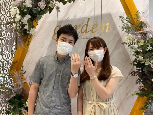 京都市・下京区 着け心地のいい鍛造ブランドフィッシャーの結婚指輪をご成約いただきました