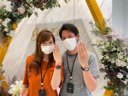 京都市・伏見区 アフターサービスも充実したマリアージュ・エントの結婚指輪をご成約いただきました