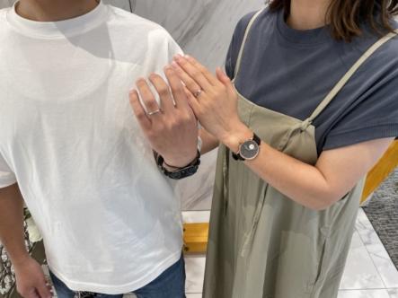 滋賀県草津市・大阪枚方市|カタチシルシの結婚指輪・gardenオリジナルの婚約指輪をご成約いただきました