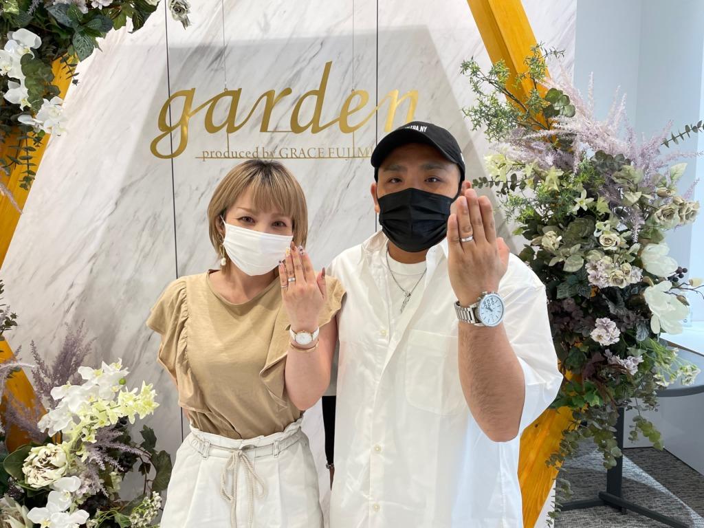 京都府八幡市 ハワイアンジュエリーでマイレの結婚指輪をご成約いただきました