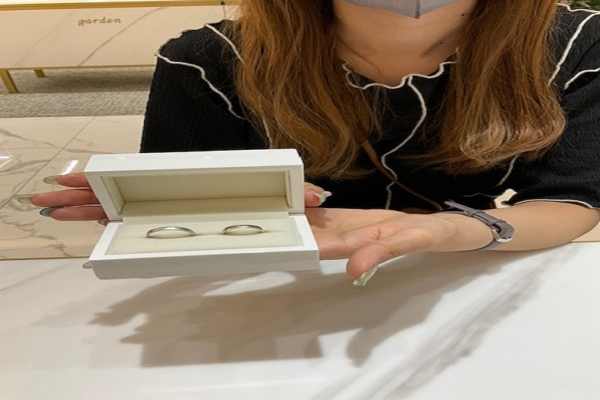 京都府・宇治市 手作り結婚指輪をご成約いただきました