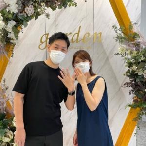 大阪府 枚方市|マットなデザインが人気なフィッシャーの結婚指輪をご成約いただきました